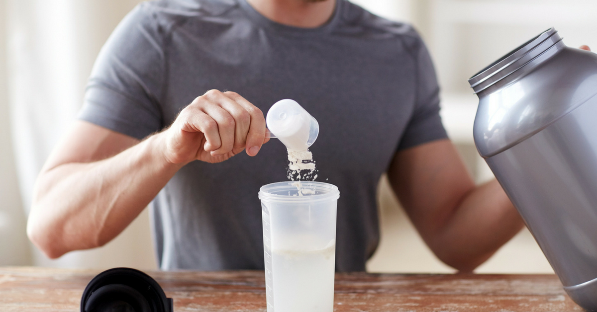 Fit-Guy-Creating-Protein-Shake