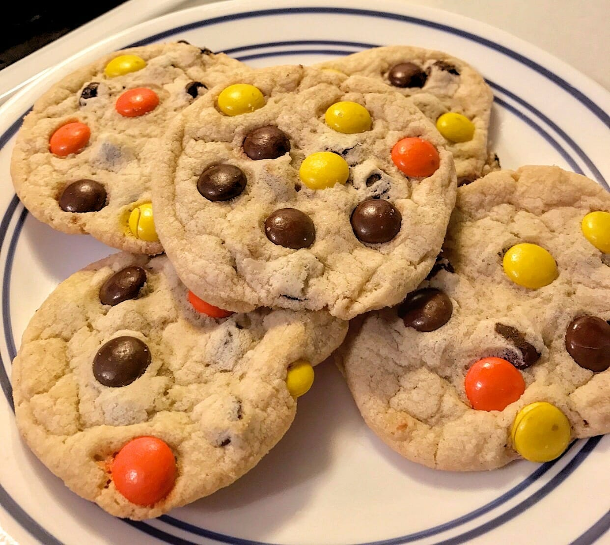 Reese pieces Oatmeal Cookies